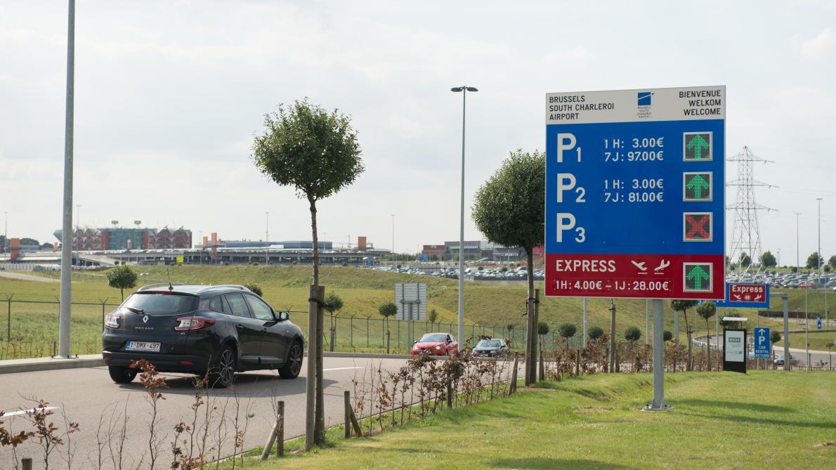 Parking P1, aéroport de Charleroi